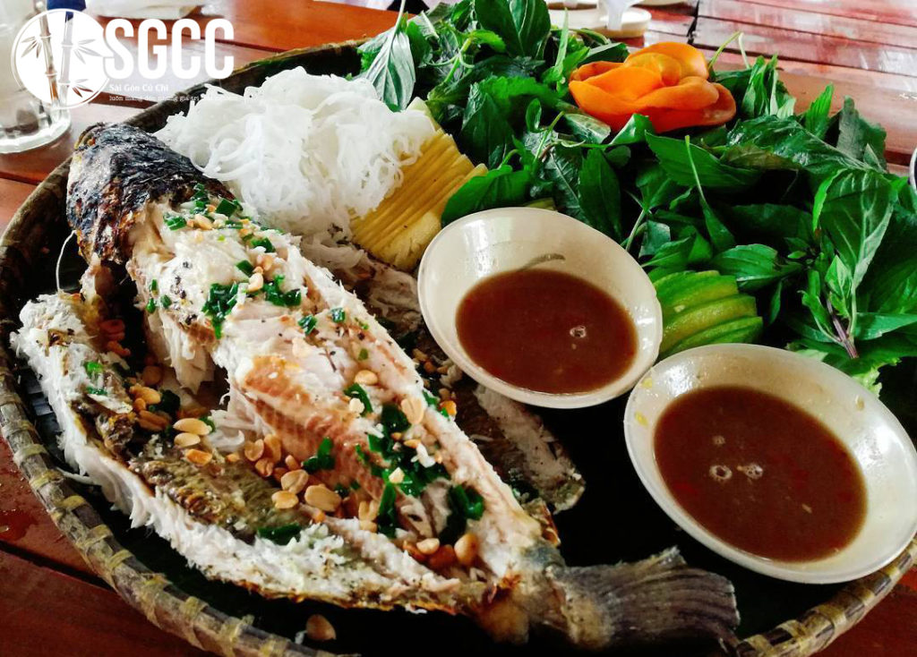 Grilled snakehead fish in Saigon, Western food specialties