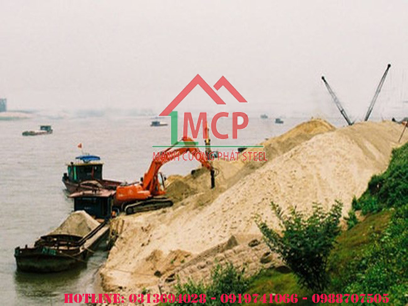 The price of construction sand is skyrocketing Vietnam construction materials