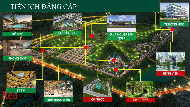 Biệt thự sân golf West Lakes Golf & Villas Long An